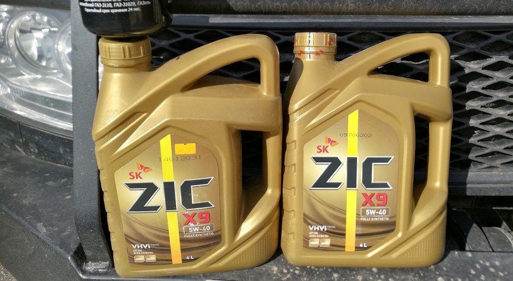 Моторное масло 5W40 ZIC X9