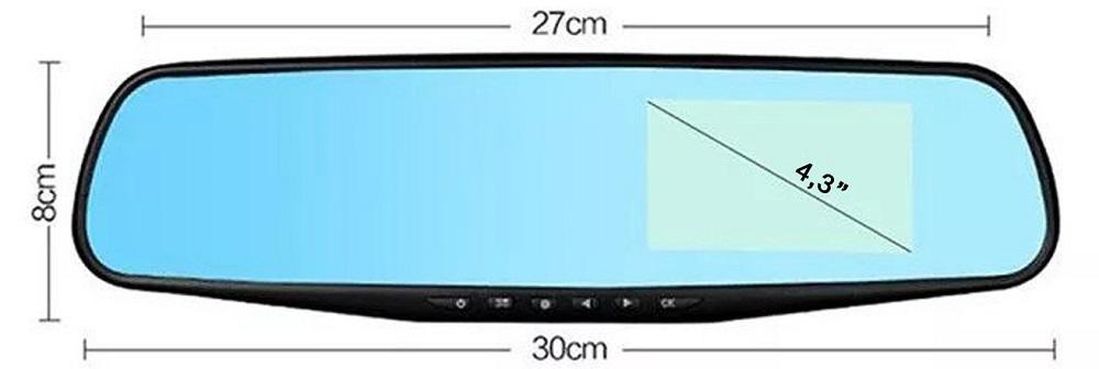 Параметры зеркала заднего вида с монитором
