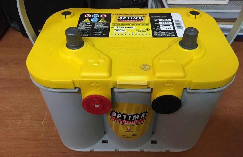 Автомобильный аккумулятор Optima Yellow Top 55