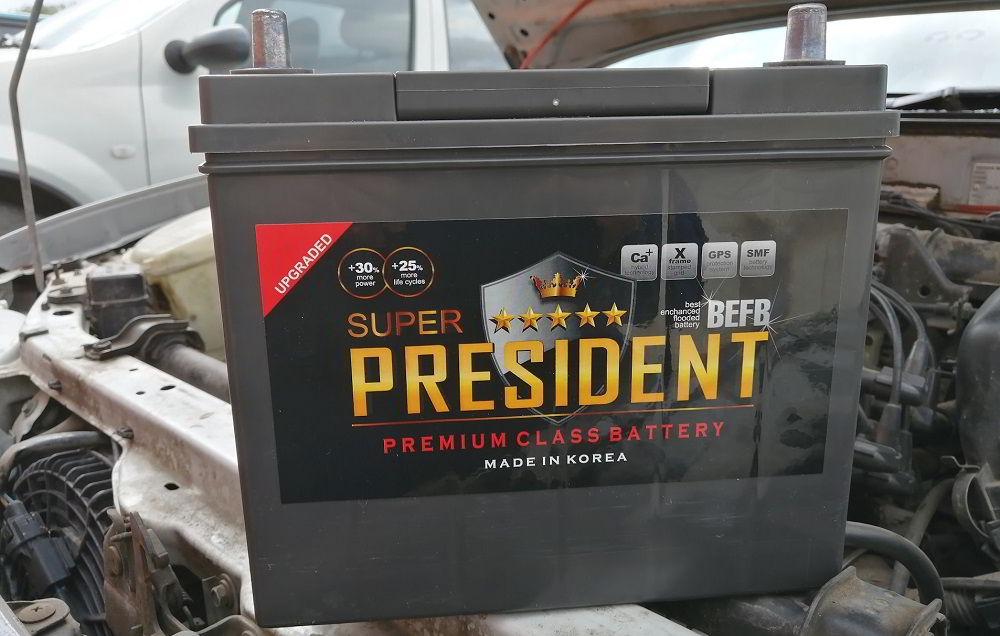 Корейский аккумулятор President