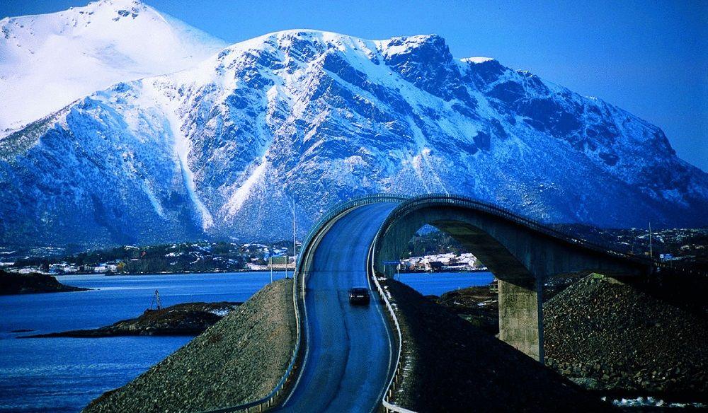 Красивая дорога Атлантическая дорога (Норвегия)