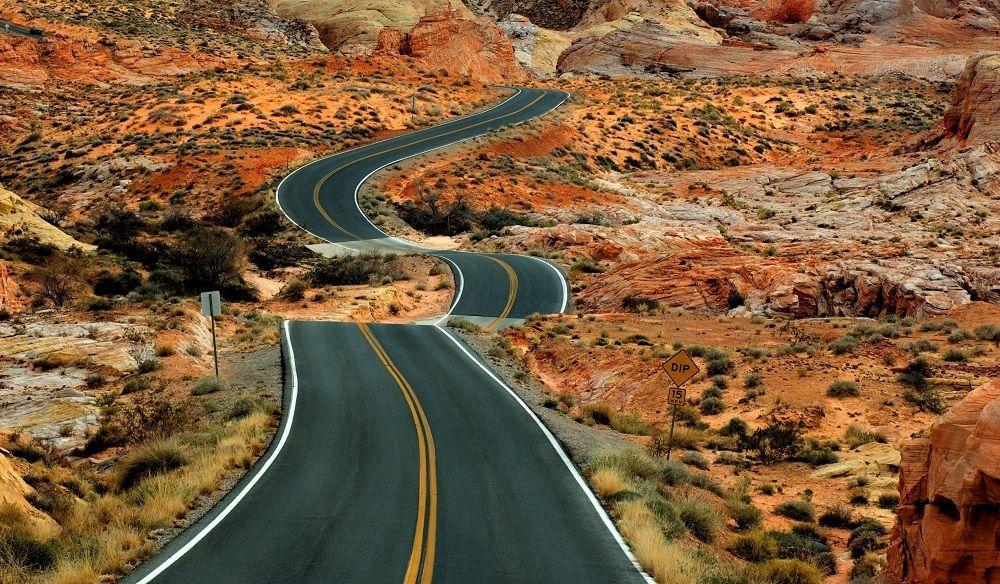Красивая дорога Большой круг (Колорадо, США)