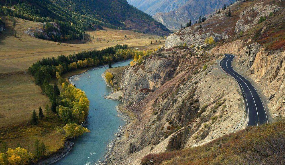 Красивая дорога Чуйский тракт (Алтай)
