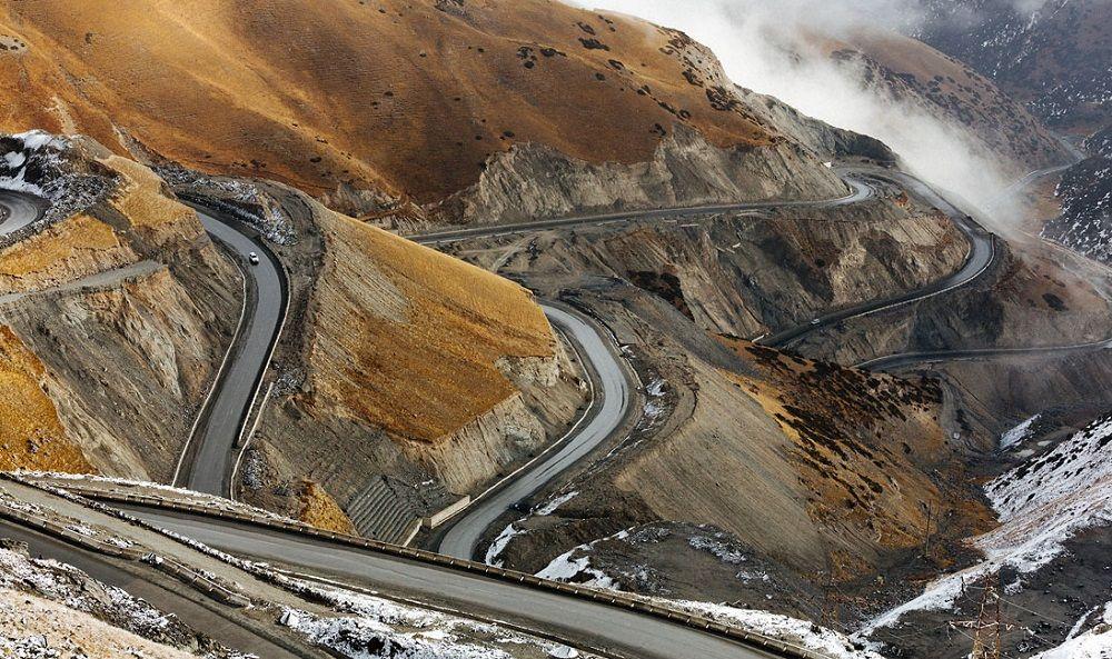 Красивая дорога Памирский тракт (Памир, Таджикистан – Киргизия)