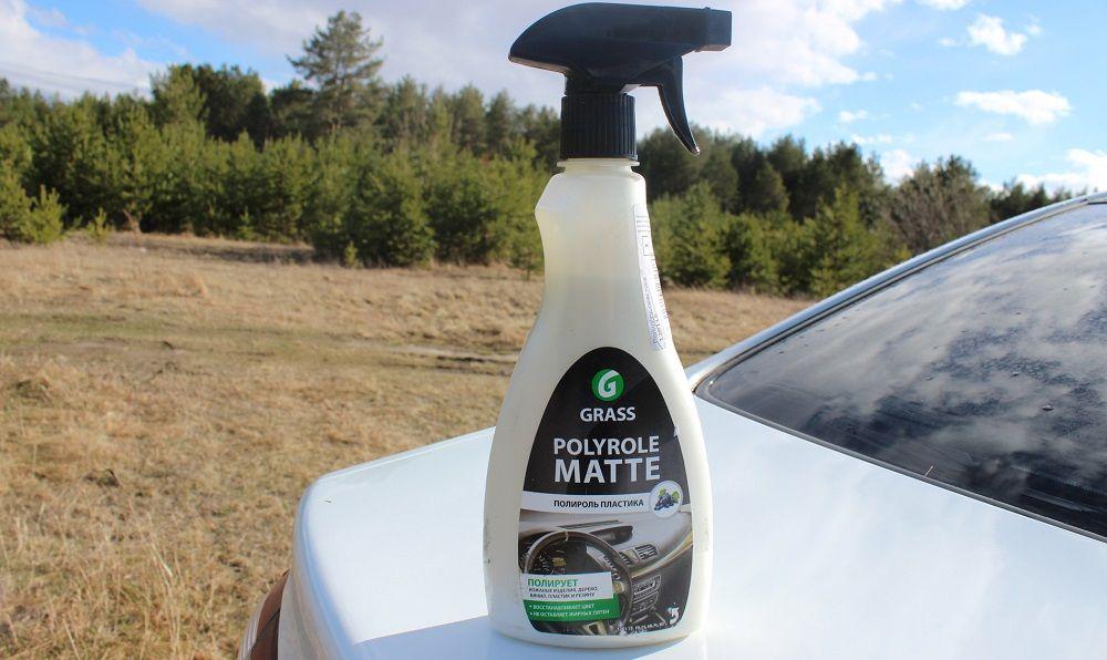 Лучшая полироль для пластика Grass Polyrole Matte