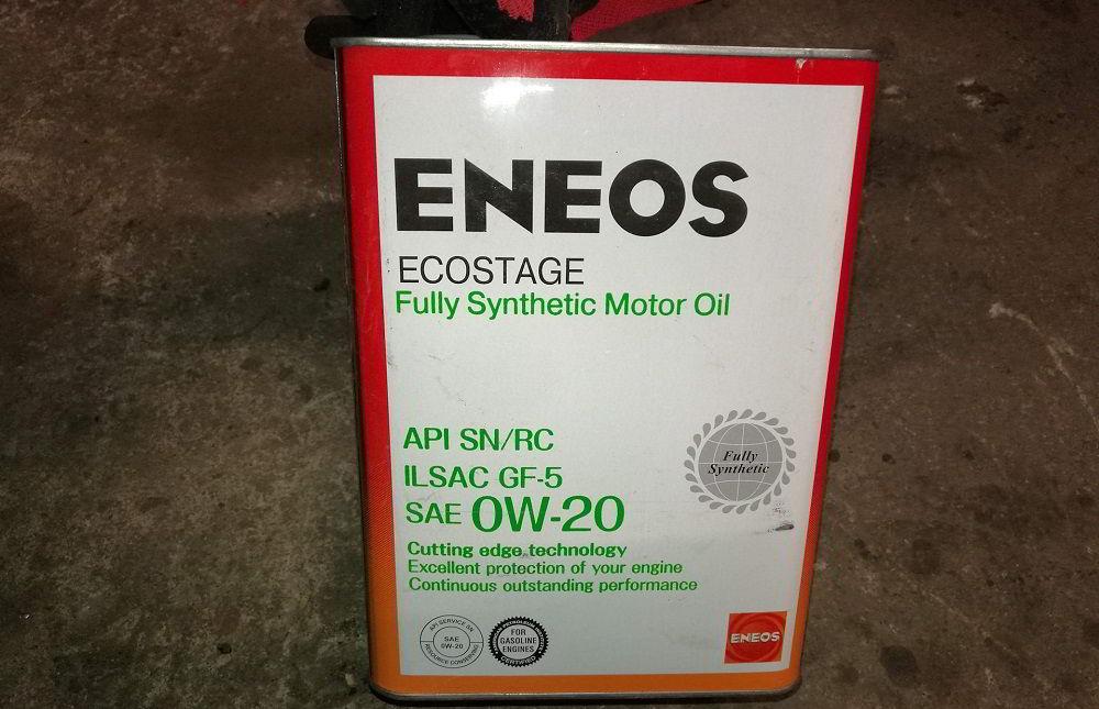Моторное масло для двигателя с турбиной Eneos Ecostage SN 0W20