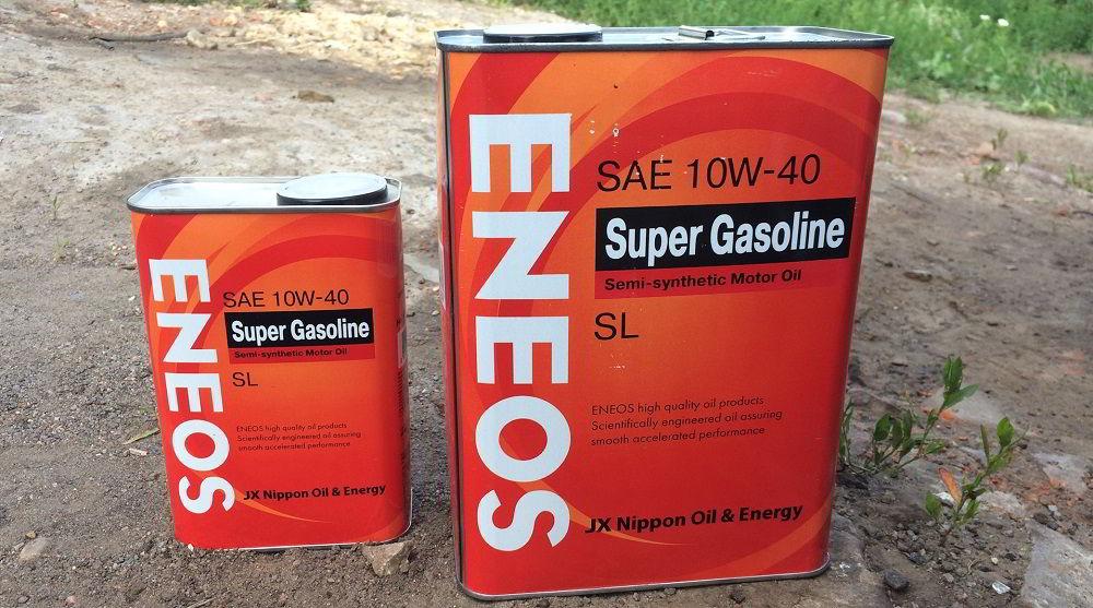 Моторное масло для двигателя с турбиной Eneos Super Gasoline SL 10W40