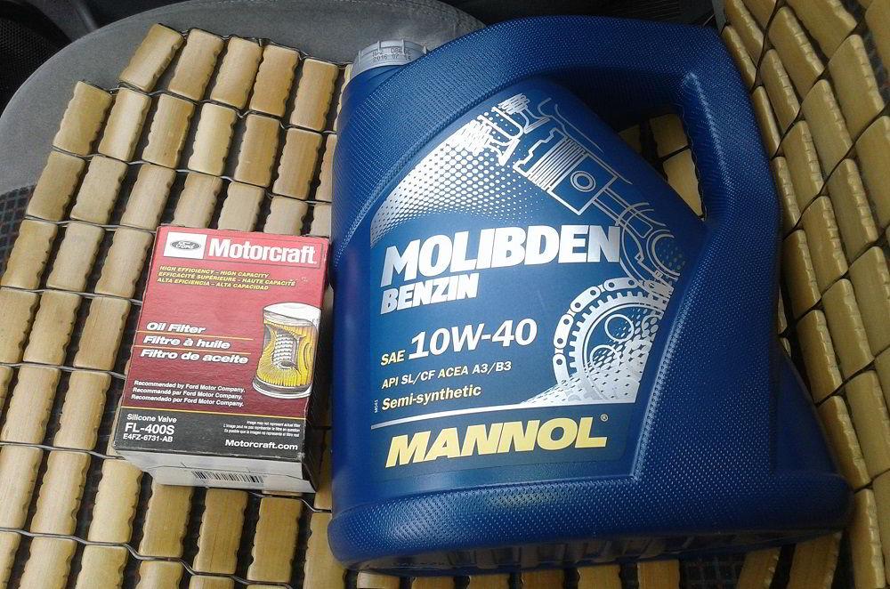 Моторное масло для двигателя с турбиной Mannol Molibden Benzin 10W40