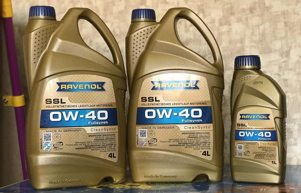 Моторное масло для двигателя с турбиной Ravenol Super Synthetik Ol SSL 0W40