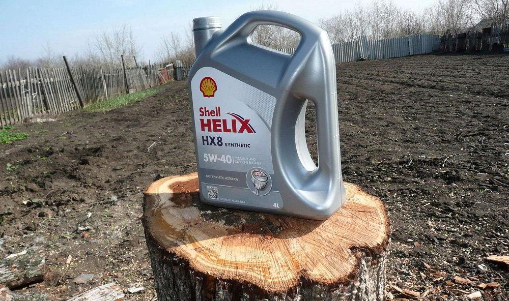 Моторное масло для двигателя с турбиной Shell Helix HX8 Synthetic 5W40