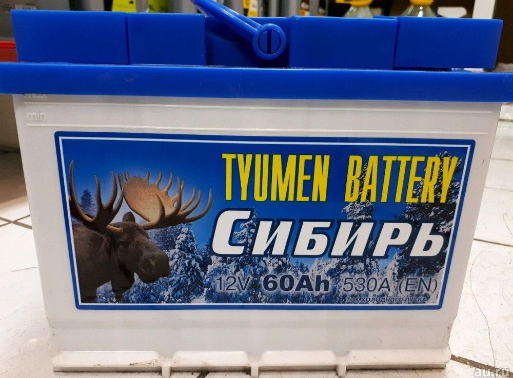 Российский аккумулятор ТАЗ Сибирь