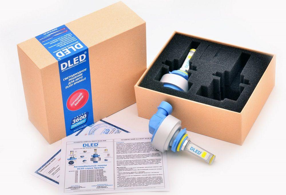 Светодиодные лампы для авто DLED Sparkle HB3 9005