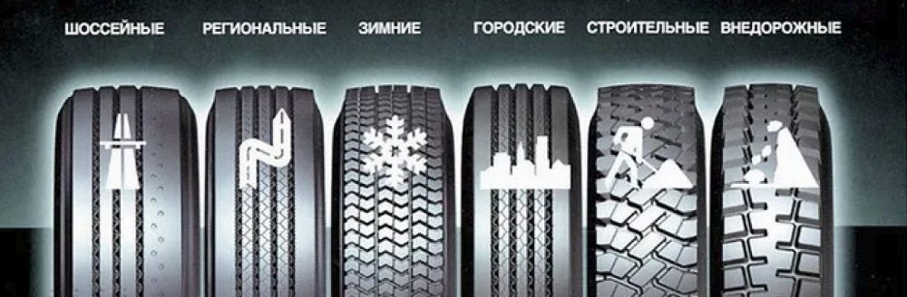 Виды шин для машины