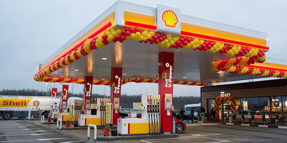 Заправка в России Shell
