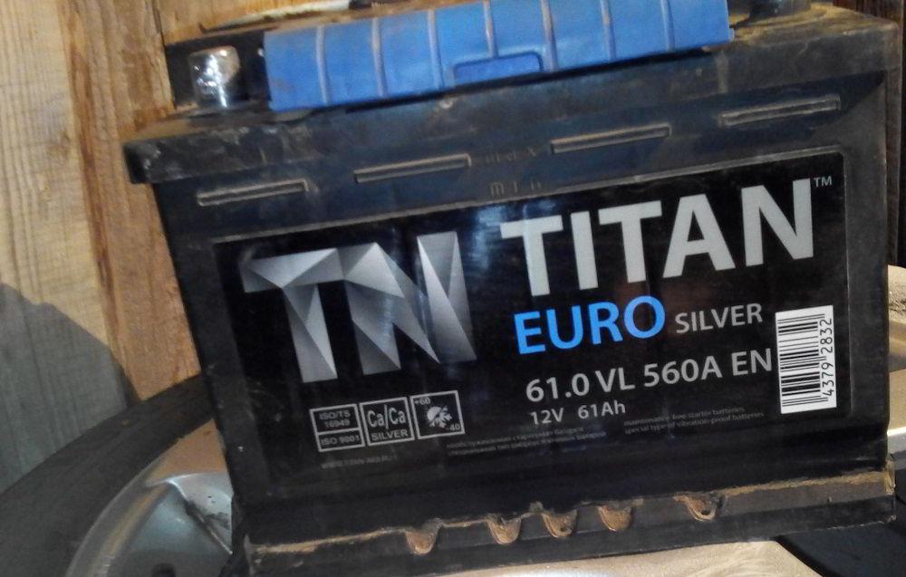 Аккумулятор для зимы Titan Eurosilver 61