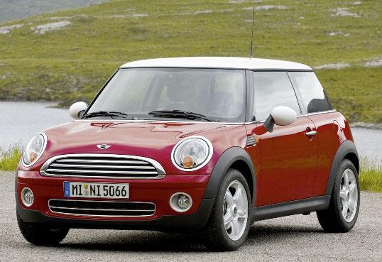 На 8 месте «взрывной» автомобиль Mini Cooper