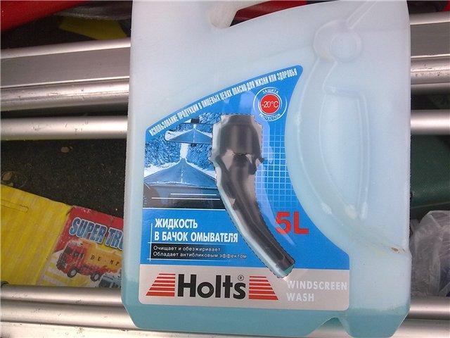 Жидкость Holts очищает стекла зимой