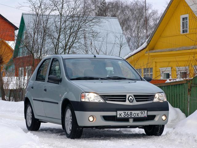 На снимке Renault Logan