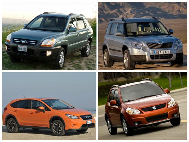 Сравнение Skoda Yeti, KiaSportage, SubaruXV и SuzukiSX4