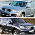 Сравнение автомобилей Vollkswagen Touareg и Touota Land Cruiser Prado