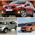 Сравнение автомобиля Nissan Qashqaiс KiaSportageи Subaru XV