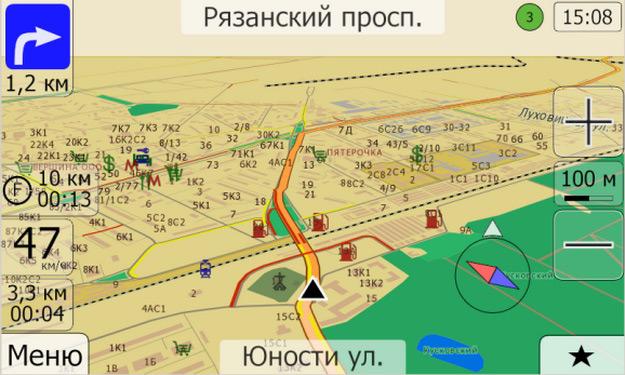Карта Автоспутник
