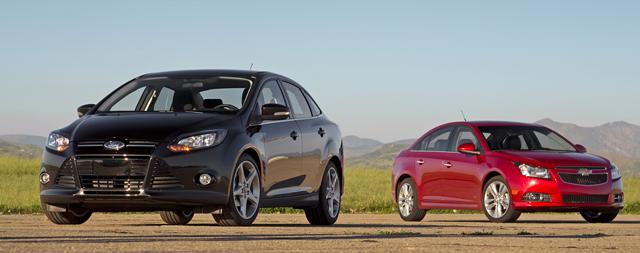 Ford Focus и Chevrolet Cruze - два седана со схожим характером