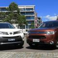 АвтомобилиТойота Рав4 и Митсубиси Аутлендер имеют множество поклонников как за рубежом, так и в России