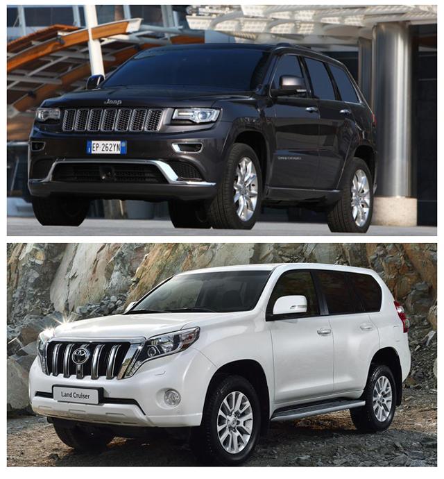 Jeep Grand Cherokee иToyota Land Cruiser Prado - два мощных внедорожника сегодня посоревнуются за первенство