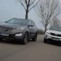 Hyundai Santa Fe и Kia Sorento - популярные кроссоверы среднего класса из Кореи