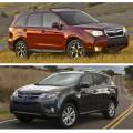 Subaru Forester и Toyota Rav4 - японские внедорожники от известных производителей