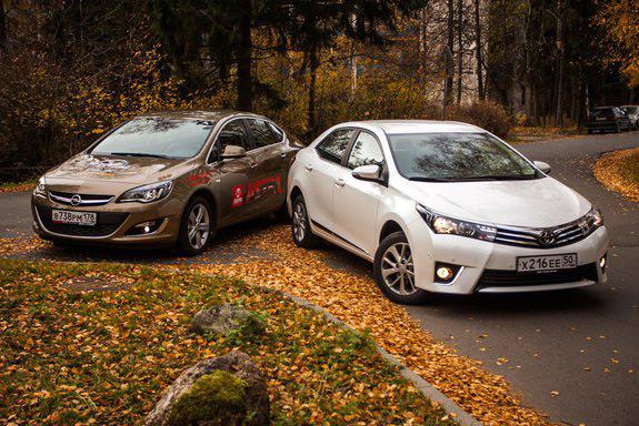 АвтомобилиToyota Corolla и Opel Astra - очередное противостояние японских инноваций и немецкого качества