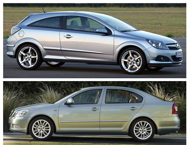 Сравнение двух европейских авто -Opel Astra и Skoda Octavia