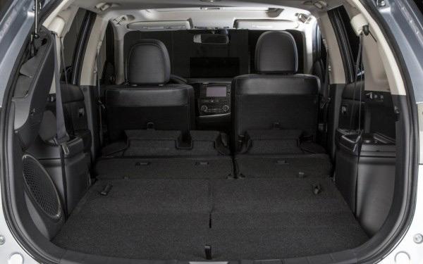 В багажнике автомобиляMitsubishi Outlander