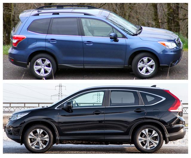 Subaru Forester и Honda CR-V - достойные соперники из Японии