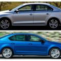 Одни из лучших представителей автомобилей гольф-класса -Volkswagen Jetta и Skoda Octavia