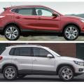 У автомобилейNissan Qashqai и Volkswagen Tiguan множество схожих характеристик