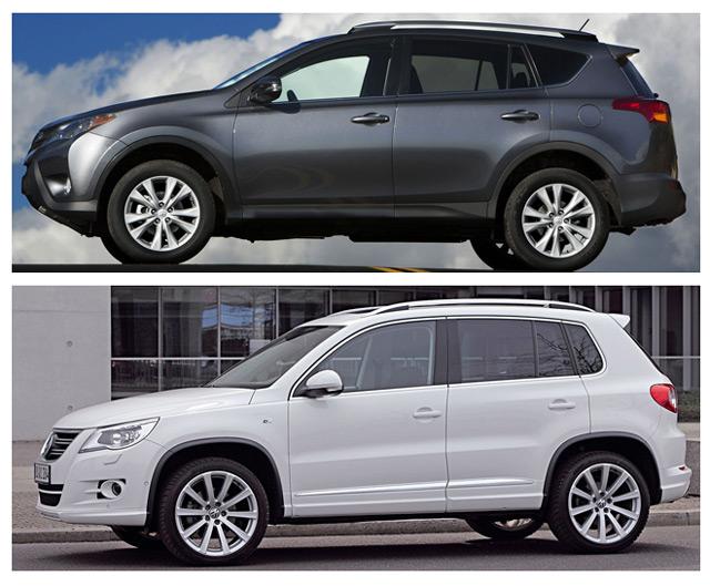 Toyota RAV4 и Volkswagen Tiguan - кроссоверы, которые стали отличной альтернативой внедорожникам от соответствующих производителей
