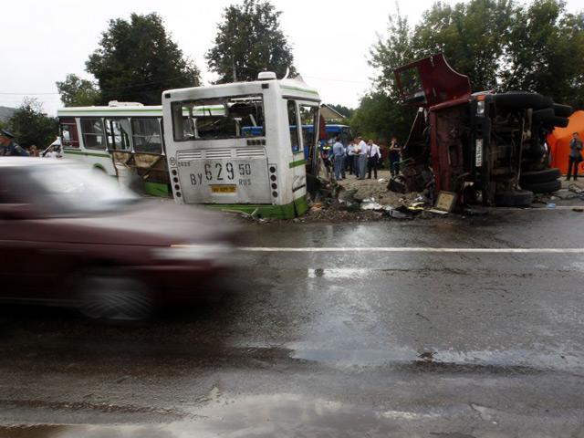 Фото с аварии в Москве