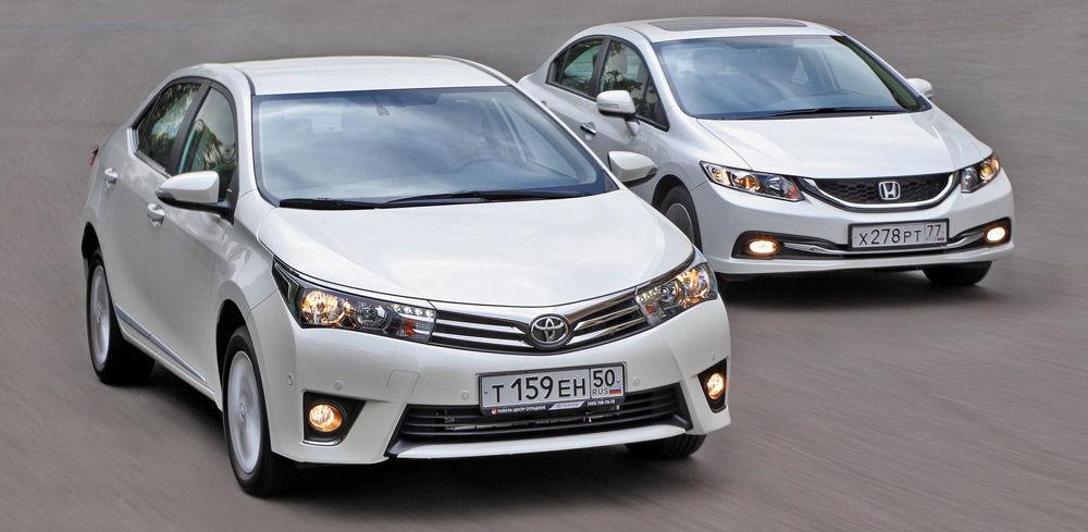 Toyota Corolla и Honda Civic