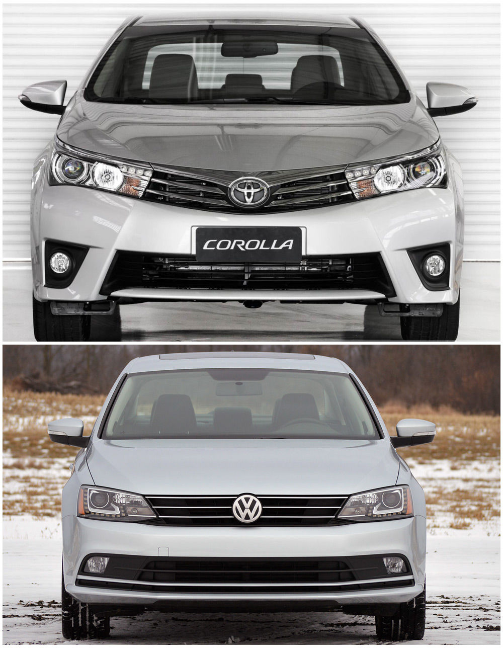 Toyota Corolla и Volkswagen Jetta