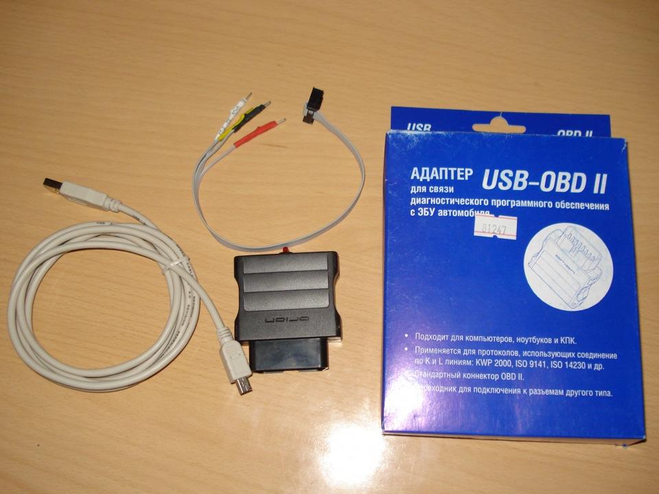 USB адаптер OBD2