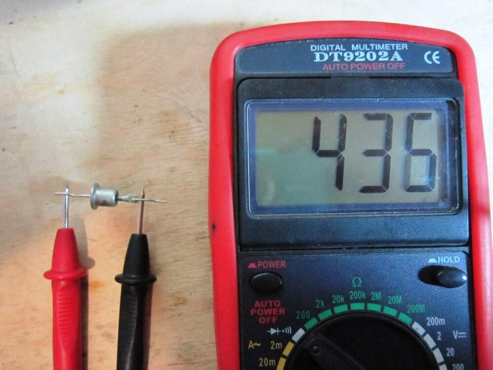 Проведение измерений мультиметром