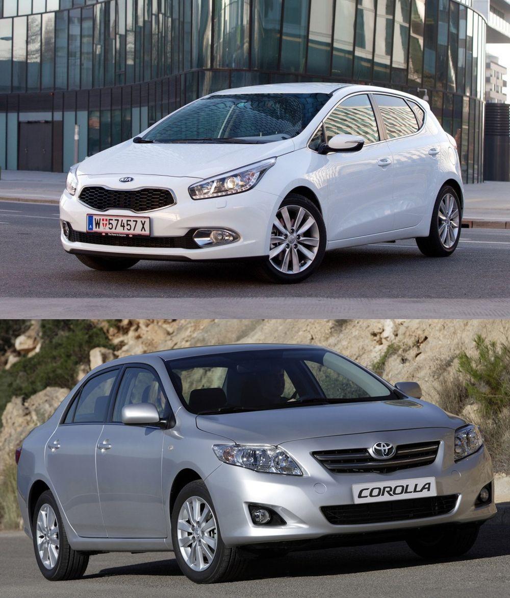 Kia Ceed и Toyota Corolla
