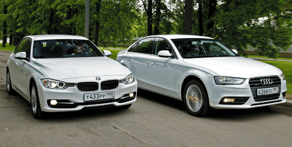 BMW 3 серии и Audi А4