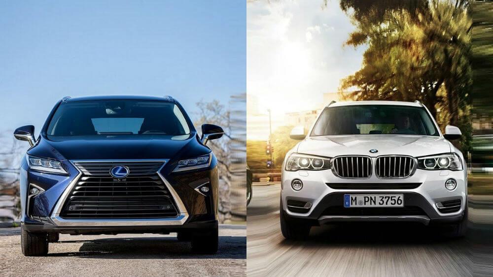 BMW X3 и Lexus RX 350