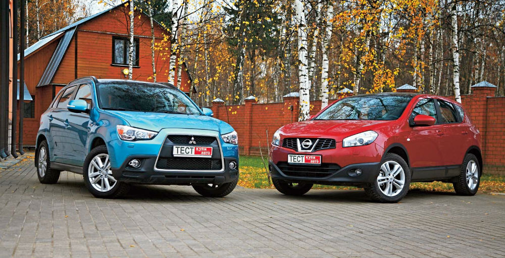 Nissan Qashqai и Mitsubishi ASX