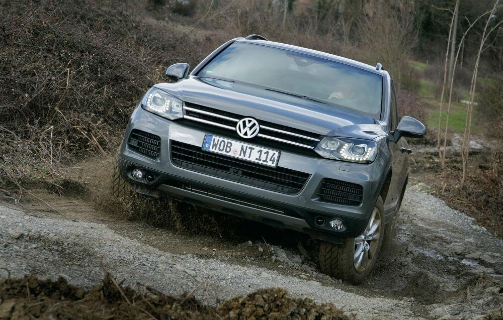 Volkswagen Touareg на бездорожье