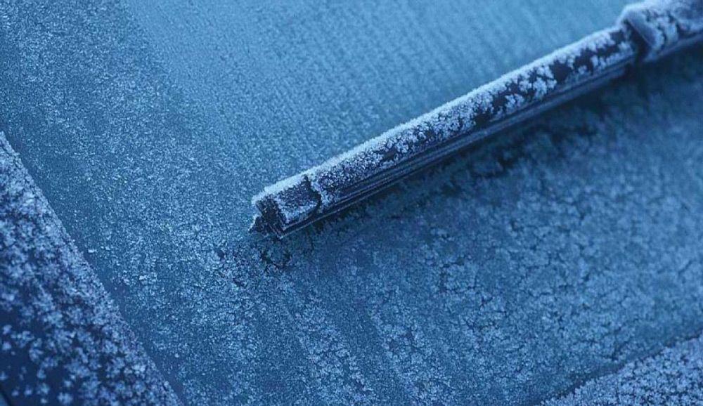 Лобовое стекло в мороз
