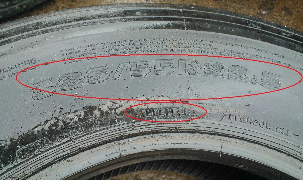 Маркировка бескамерных шин